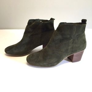 Steve Madden Harber Green Suede Ankle Booties 6M